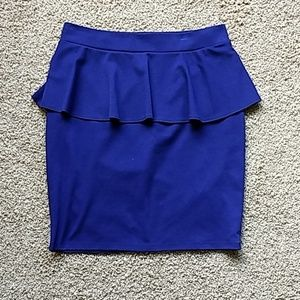 Mossimo Purple Peplum Skirt